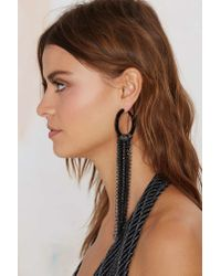 Nasty Gal | Metallic Chasing Pavã©ments Fringe Earrings | Lyst
