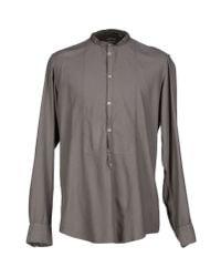 Massimo Alba - Gray Shirt for Men - Lyst