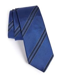 Lanvin - Blue Stripe Tie for Men - Lyst