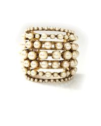Erickson Beamon - Metallic Stratosphere Gold-Plated Faux Pearl Cuff - Lyst