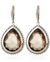 Stephen Dweck | Metallic Smoky Quartz Pear Drop Earrings | Lyst