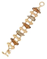 Robert Lee Morris | Brown Spiral Jetty Scattered Stone Toggle Bracelet | Lyst