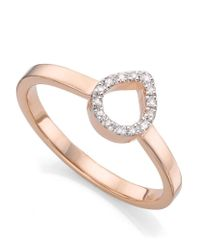 Monica Vinader | Metallic Diva Mini Lotus Open Diamond Ring | Lyst