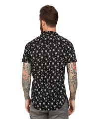 Scotch & Soda | Black Hawaiian Tree Print Cotton Shirt for Men | Lyst