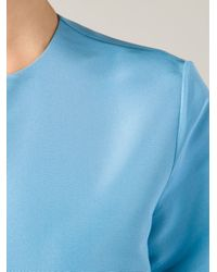 Rosie Assoulin - Blue Cropped Blouse - Lyst