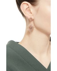 Bochic - Double Starburst Brown Diamond Earrings - Lyst