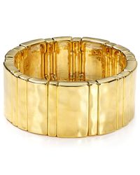 Ralph Lauren - Metallic Lauren Stretch Cuff - Lyst