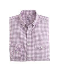 J.Crew - Purple Slim Lightweight Oxford Shirt In Summertime Gingham for Men - Lyst
