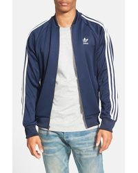 Adidas Originals | Blue 'superstar' Track Jacket for Men | Lyst