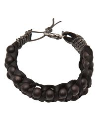 Emanuele Bicocchi - Black Braided Bead Bracelet for Men - Lyst