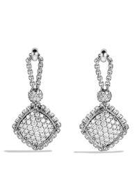 David Yurman - Metallic Cushion On Point Earrings With Diamonds - Lyst