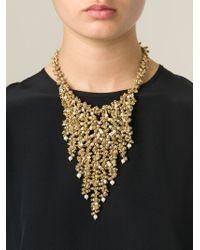 Rosantica - Metallic Cascading Bead Necklace - Lyst