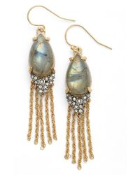 Alexis Bittar - Metallic Tassel Drop Earrings - Lyst