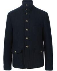 Dolce & Gabbana - Blue Military Jacket for Men - Lyst