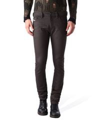 DIESEL | Brown Washed Slim Jeans for Men | Lyst