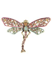 Jay Strongwater - Multicolor Floral Dragonfly Pin - Lyst