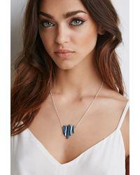 Forever 21 - Blue Luna Norte Row Of Quartz Necklace - Lyst
