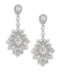 Adriana Orsini | Metallic Sweet Embrace Sparkle Drop Earrings | Lyst
