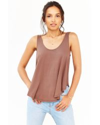 Kimchi Blue | Brown Float In The Sun Tank Top | Lyst