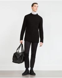 Zara | Black Technical Fabric Trousers for Men | Lyst