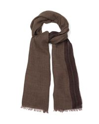 Gucci - Brown Cashmere-Blend Fine-Check Scarf for Men - Lyst