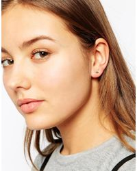 Orelia | Blue Emperess Metal Stud Multipack Earrings | Lyst