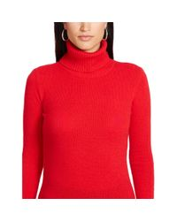 Ralph Lauren - Red Wool-cashmere Turtleneck - Lyst