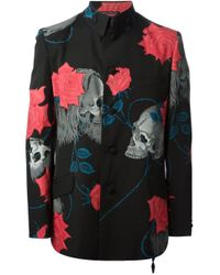 Yohji Yamamoto - Black Skull Printed Button Fastening Jacket for Men - Lyst