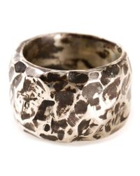 Henson | Metallic Hammered Ring | Lyst