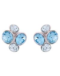 Ted Baker | Blue Lynda Swarovski Crystal Cluster Stud Earrings | Lyst