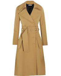 Bouchra Jarrar - Natural Wool-Blend Gabardine Trench Coat - Lyst