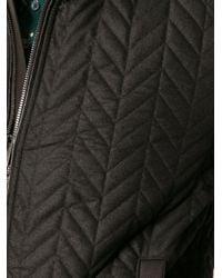 Dolce & Gabbana - Black Quilted Bomber Jacket for Men - Lyst