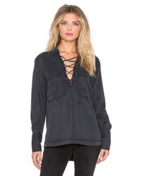 Free People - Black Under Your Spell Blouse - Lyst