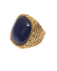 Aurelie Bidermann | Blue Miki Lapis And Gold-Plated Ring | Lyst