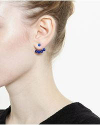 Yvonne Léon - Blue 18K Yellow Gold And Lapis Lazuli Lobe Earring - Lyst