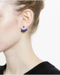 Yvonne Léon | Blue 18K Yellow Gold And Lapis Lazuli Lobe Earring | Lyst