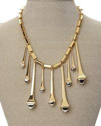 Rachel Zoe - Metallic Gold-Plated Spike Necklace - Lyst