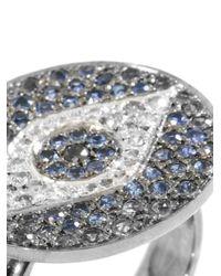 Ileana Makri | Metallic Diamond, Sapphire & White Gold Ring | Lyst