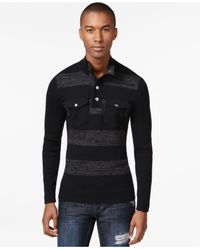 INC International Concepts | Black Men's London Striped Two-pocket Sweater, Only At Macy's for Men | Lyst