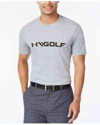Under Armour | Gray Golf Graphic T-shirt for Men | Lyst