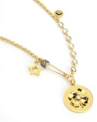 Juicy Couture | Metallic Clover Pendant Necklace | Lyst