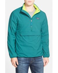 Patagonia | Green 'snap-t' Reversible Half Zip Jacket for Men | Lyst