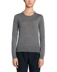 BOSS - Gray 'fennelle' | Virgin Wool Sweater - Lyst