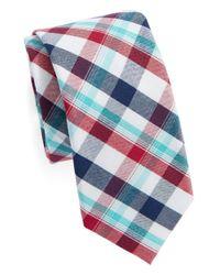 Original Penguin - Red Plaid Tie for Men - Lyst