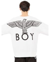 BOY London - White Boy Eagle Printed Cotton Sweatshirt - Lyst