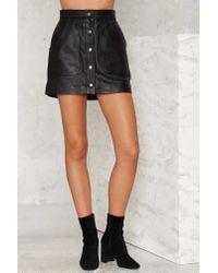 Nasty Gal | Black Ladyland Leather Skirt | Lyst