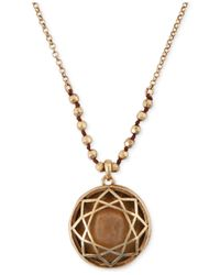 Lucky Brand - Metallic Citrine Floral Pendant Necklace - Lyst