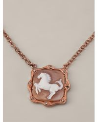Amedeo - Metallic Horse Pendant Necklace - Lyst