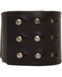 Rick Owens | Black Bone Inlay Bracelet for Men | Lyst