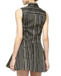 Alice + Olivia - Multicolor Lea Striped Fitted Sleeveless Blouse - Lyst